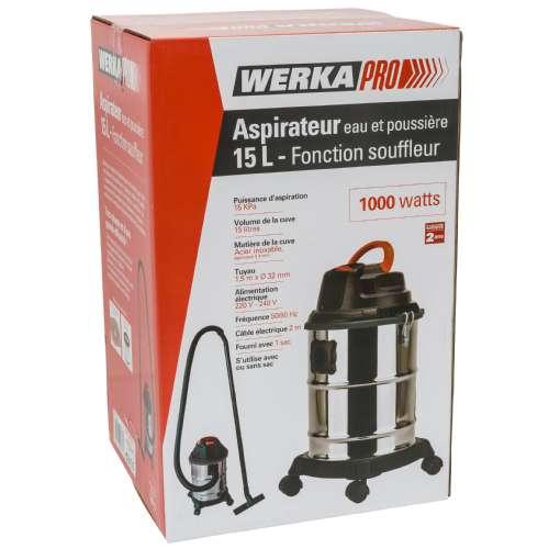 aspirateur eau poussieres 1000w werkapro k 10676.500