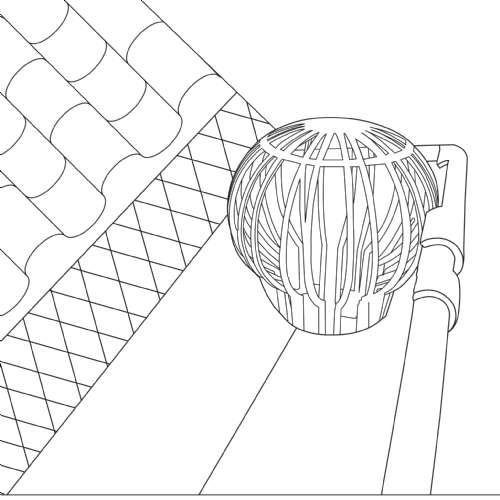 filtre pvc gouttiere werkapro c 11282.500