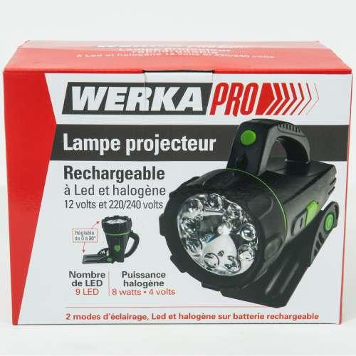 lampe led et halogene a main werkapro f 09564.500